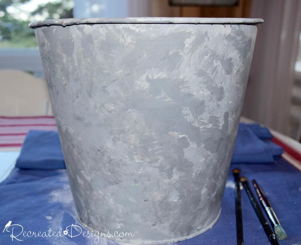 How to make paint look like galvanized metal recreated for Make a photo look like a painting