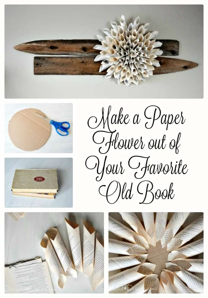 How to make paper flower out of favorite old book for How to make an old book