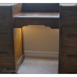 an antique dressing table