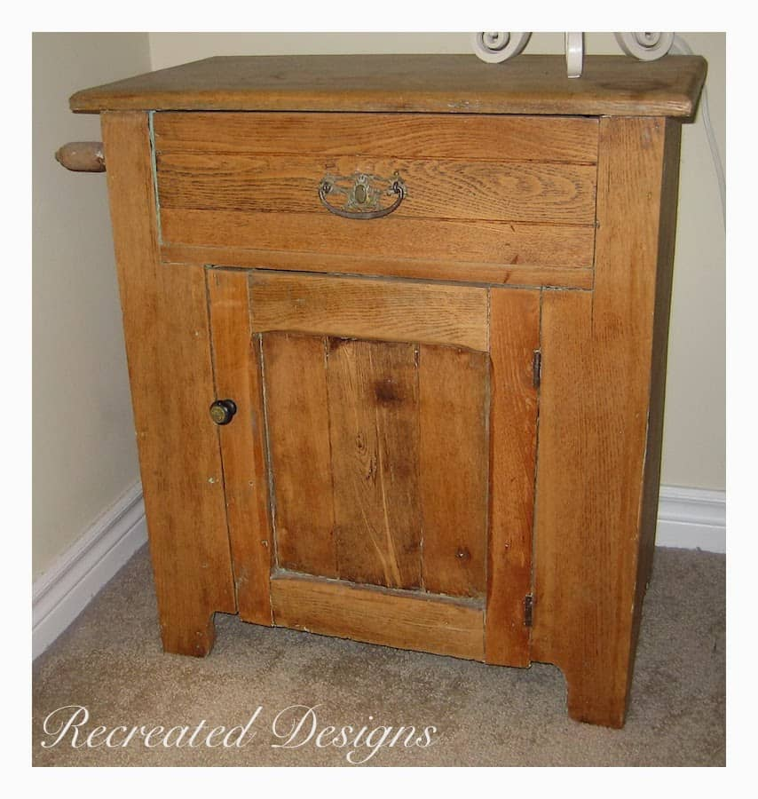 antique washstand before being painted