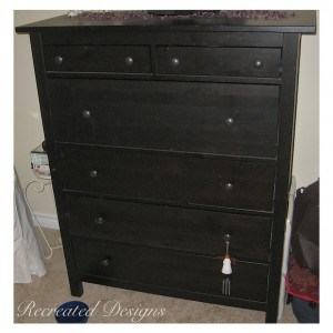 an IKEA dresser before it was painted
