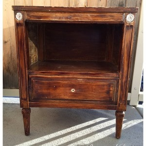an antique side table
