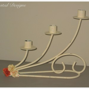 a three tiered candle holder