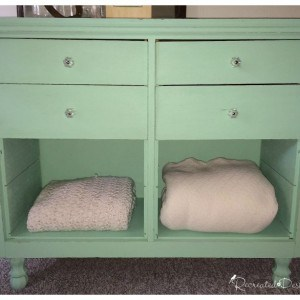a vintage dresser painted with Fusion Mineral paint in Laurentien