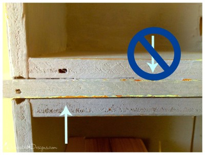 distressing_bookshelf_made_from_drawers_adding_screws