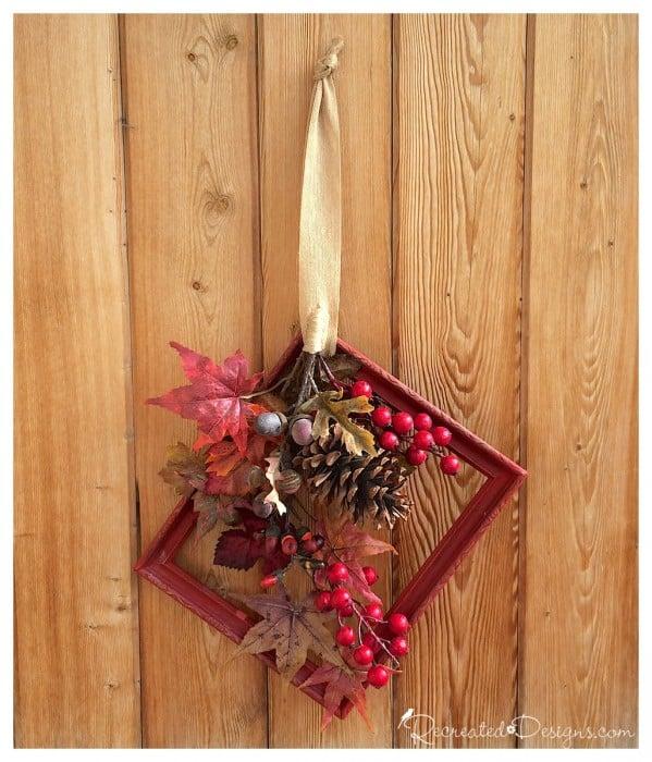 a fall frame wreath
