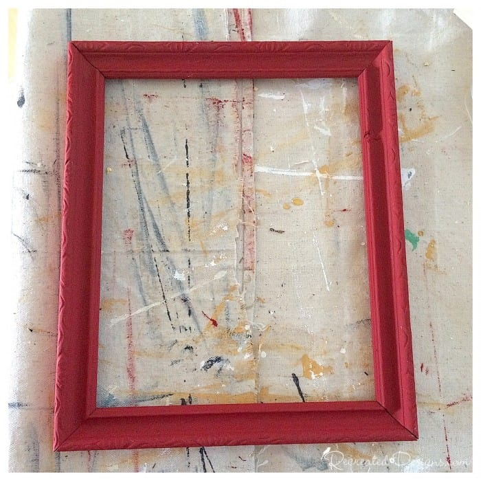 a vintage frame painted with Annie Sloan Chalk Paint in Emperor's Silk
