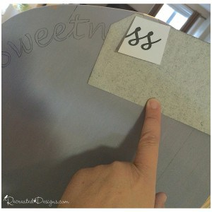 tracing letters with carbon paper