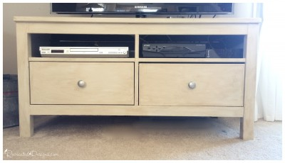 IKEA tv stand painted and glazed with Fusion mineral paint