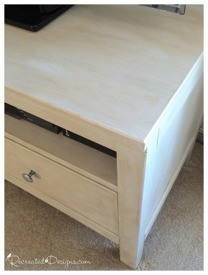 Ikea tv stand finished with Fusion Mineral Paint and antiquing glaze