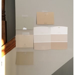 Behr paint cards from Home Depot