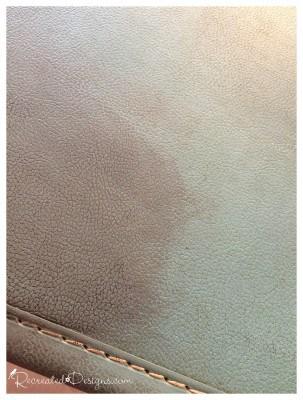java gel stain on a vintage suitcase