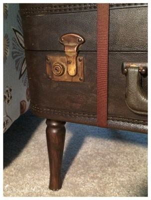 clasp on a vintage suitcase