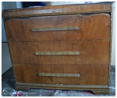 antique dresser before being recreated
