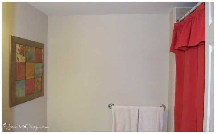 a diy shower curtain dyed with paint