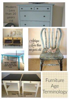 a collage of furniture terminology