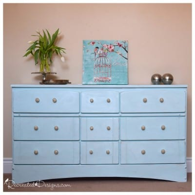 dresser painted with Country Chic Paint in Icicle