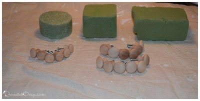 making German Glass Glitter knobs with Miss Mustard Seed German Glass Glitter