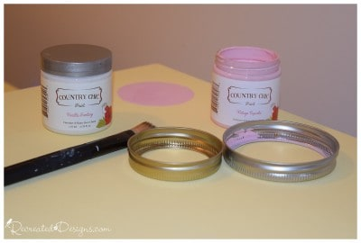 using Country Chic paint to make polka dots