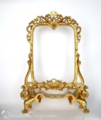 gold frame before being painted