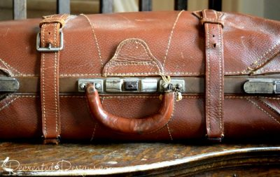 old suitcase used for travelling around the world
