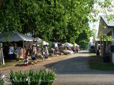 Outdoor booths at the Country Living Fair in Rhinebeck, NY 2016