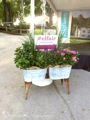 Flower pots at the Country Living Fair Rhinebeck, NY 2016