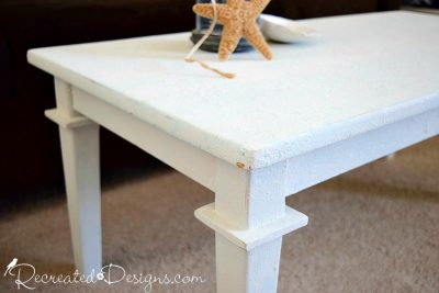 the distressing of a Saltwashed coffee table