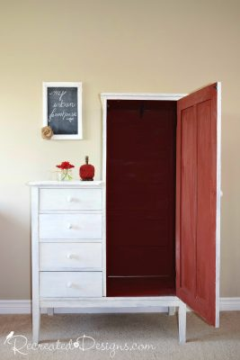 Old Fasioned Milk Paint in Barn Red and LIght Cream