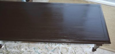 staining a table top with General Finishes Java Gel Stain