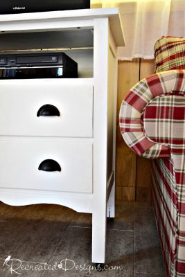 Country Chic Paint in Simplicity on a vintage dresser turned TV stand