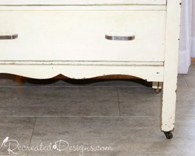 beautiful detailing on a vintage dresser