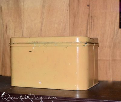 vintage yellow bread box