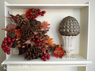 Fall home decor with found glass and Fusion Mineral Paint