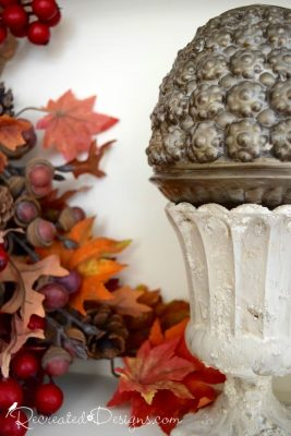 Fusion Mineral Paint Fresco Fall decor project with found items