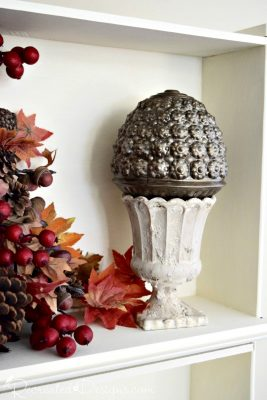 Found glass light globe and glass vase turned into some Fall decor with Fusion Mineral Paint and Fresco