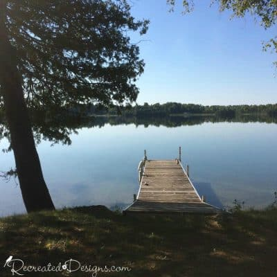 dock on a lake in Eastern Ontario