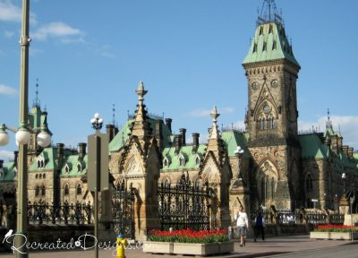 East block of the Parliament buildings in Ottawa, Canada