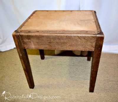 old table with removable top