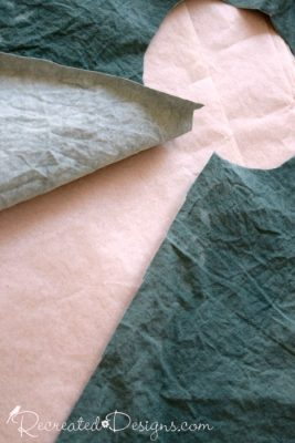 painting fabric with Country Chic Paint in Hollow Hill