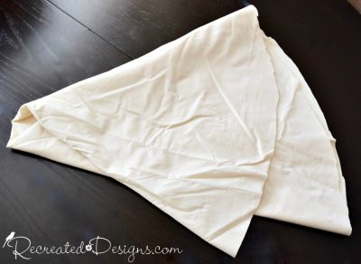a large circle cut out of Muslin to make a Christmas tree skirt