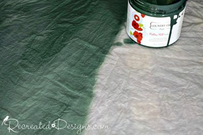 Country Chic Paint in Hollow Hill used to paint a tree skirt