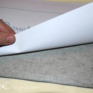 using grapite paper to transfer an image onto fabric