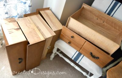 Drawers found on the side of the road