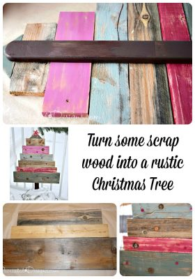 turn some scrap wood into a Christmas tree