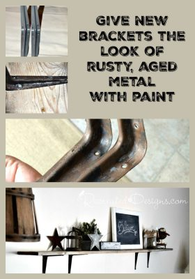 give new brackets the look of rusty, aged metal with paint