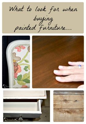 What to look for whey buying painted furniture