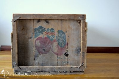 old apple crate from 1947