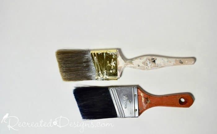 angled paint brushes