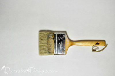 flat natural paint brush
